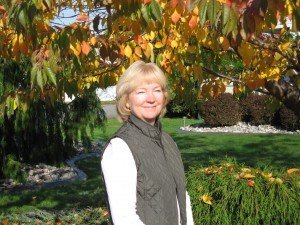 Lesley in the Fall Garden